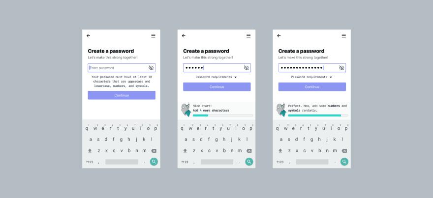 contextual password helper