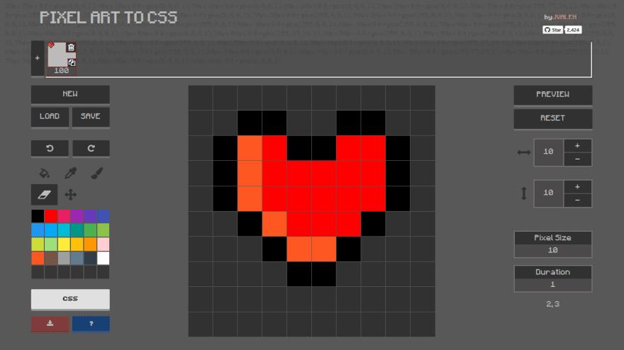 Pixel art in Pixel Art to CSS