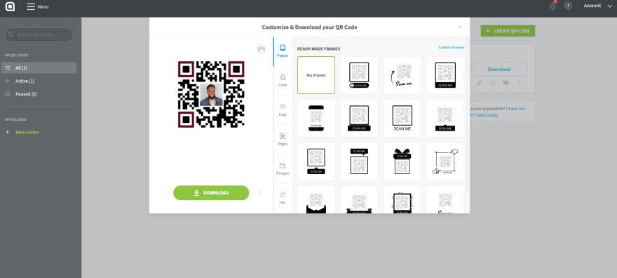 QR Code Generator Admin Interface