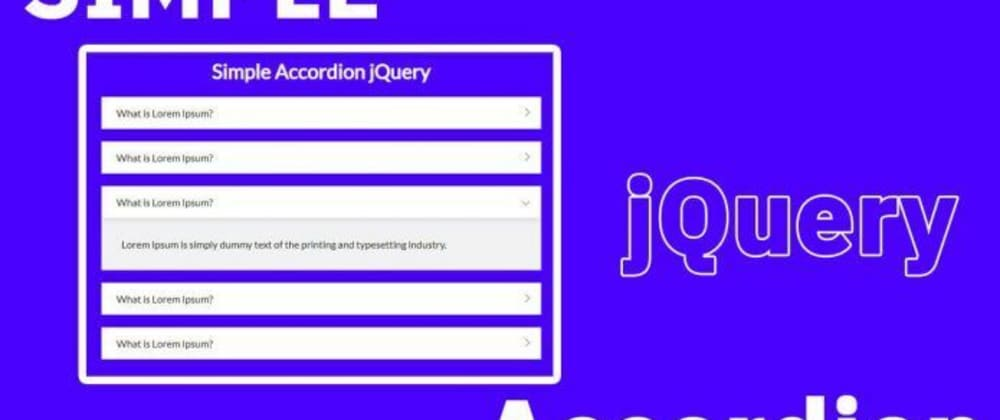 Cover image for accordion jquery examples with source code