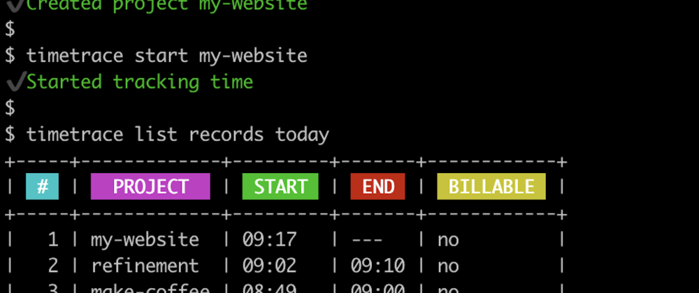 Cover image for timetrace: New features of the time tracking CLI