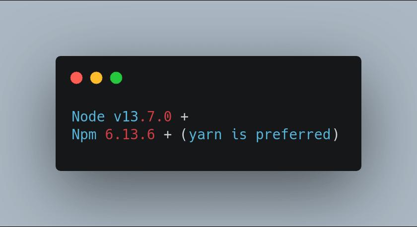 node & npm version