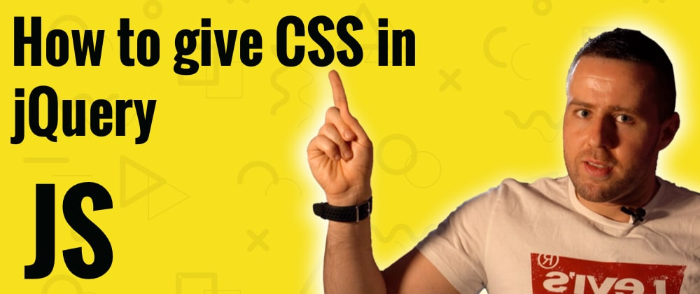 Cover image for How to give CSS class in jQuery?