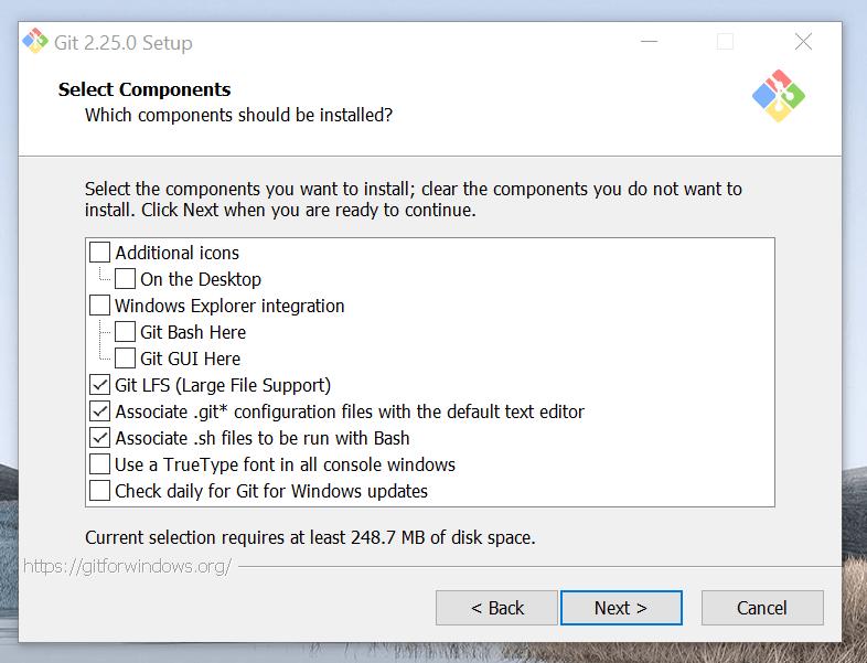 Uncheck Git Explorer integration.