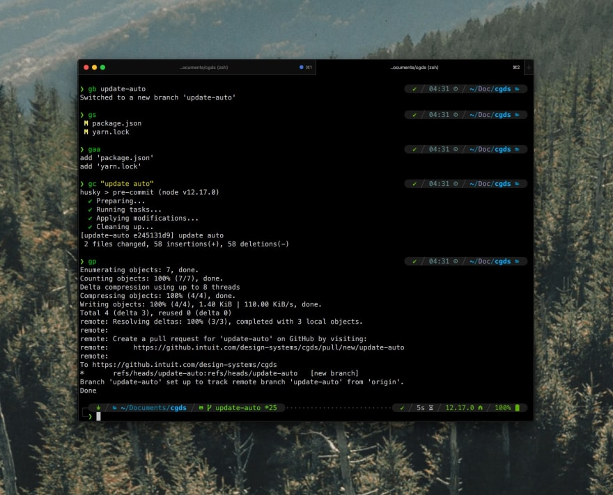 A picture of my terminal setup