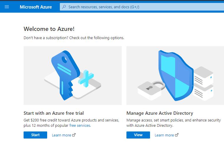 Page d'accueil du Directory