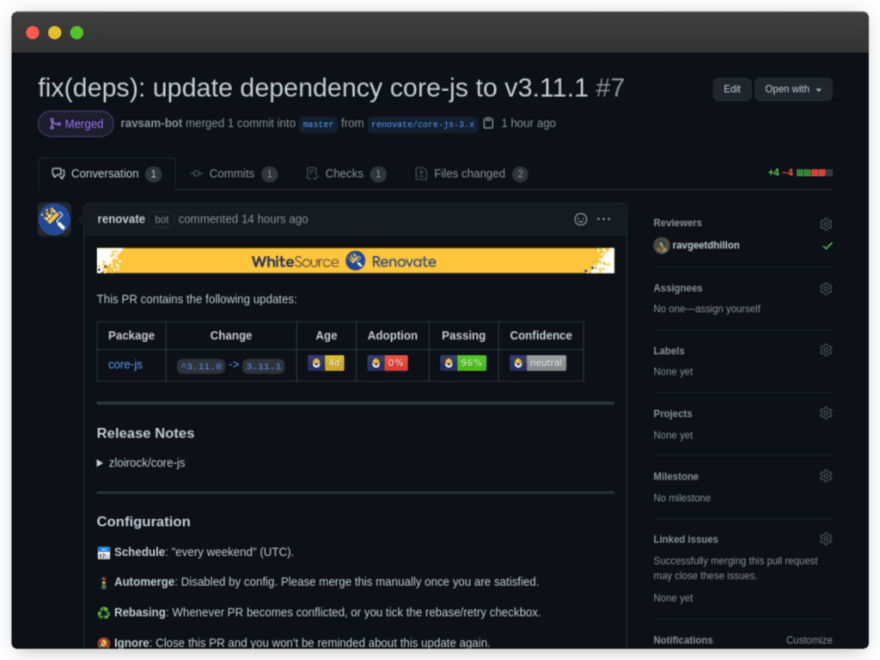 Dependency Updates by Renovate