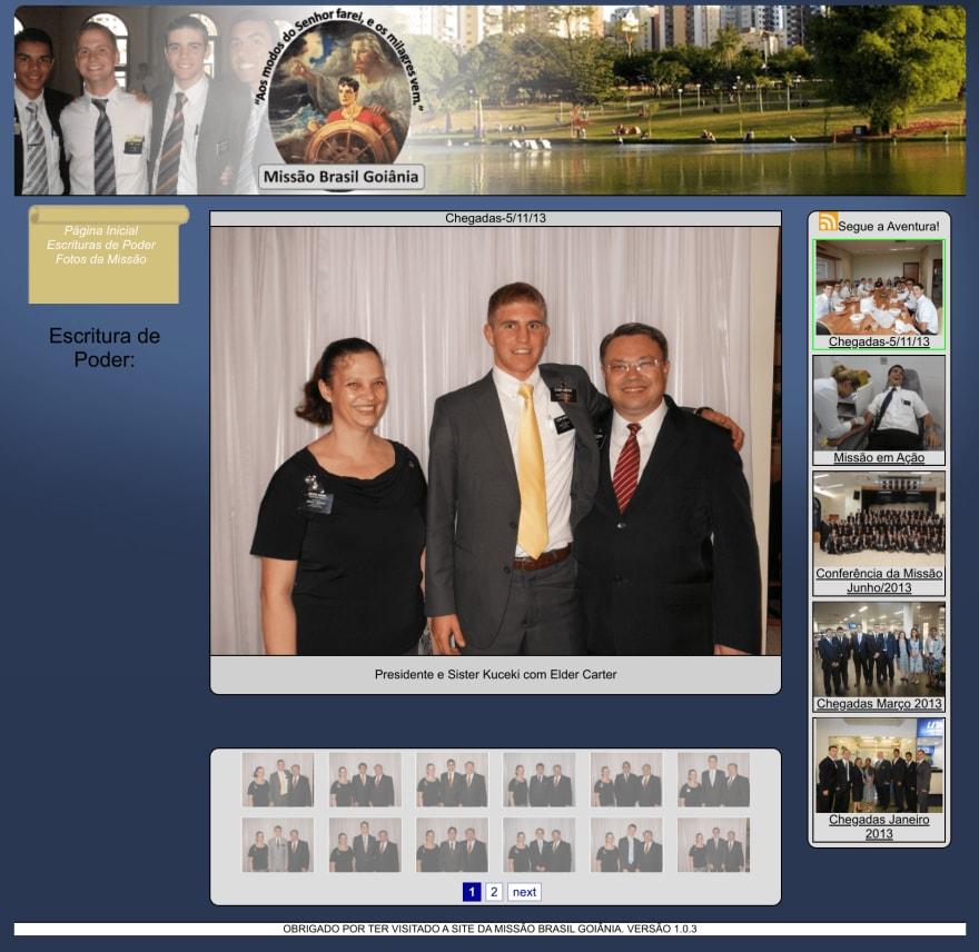 Goiania Brazil Mission website