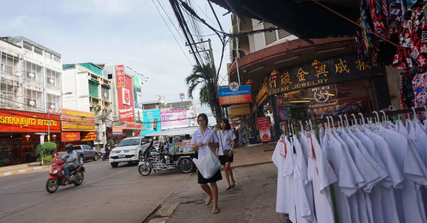 Street view in Udon Thani, Thailand