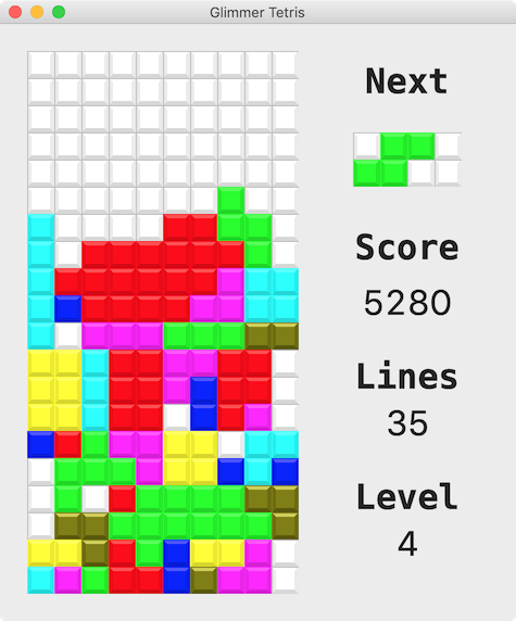 Glimmer Tetris