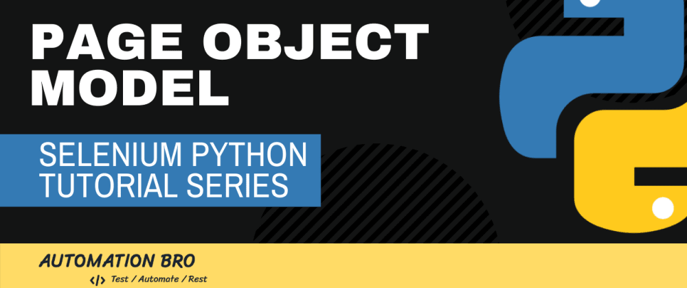 Cover image for Selenium Python Page Object Model