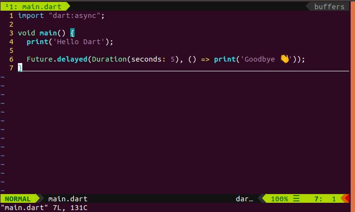 Dart syntax highlight in vim