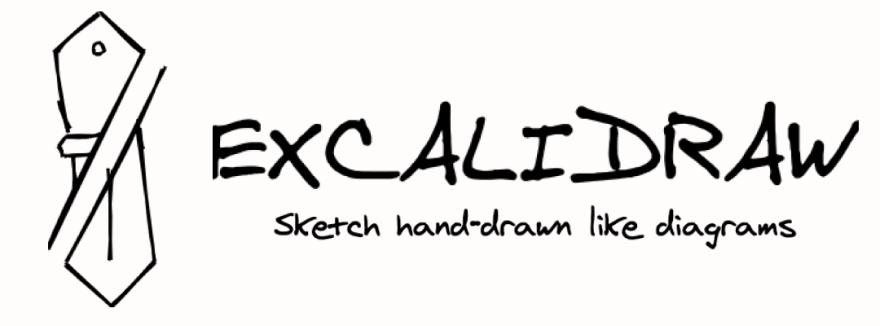 Excalidraw logo: Sketch handrawn like diagrams.