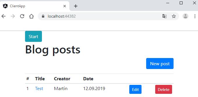 Blog posts list view