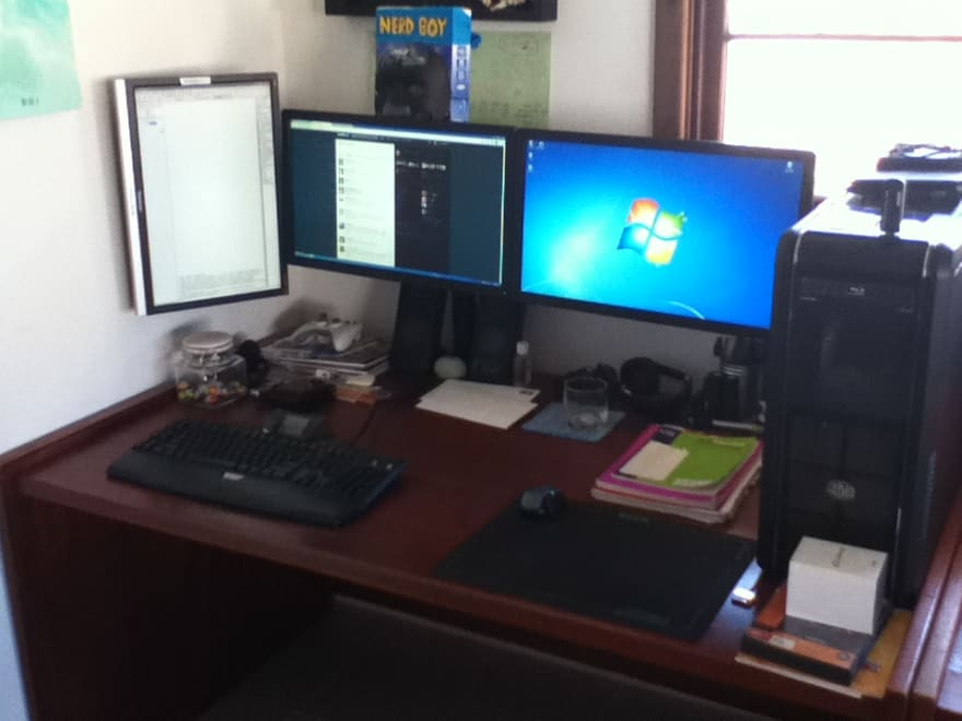 My desk at the start of 2011