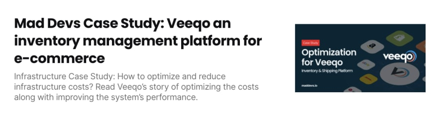 Optimization for Veeqo