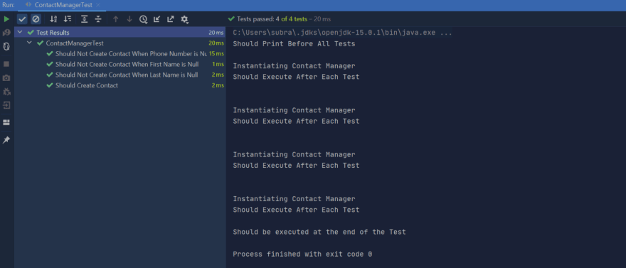 Test Execution Junit 5 BeforeEach and AfterEach
