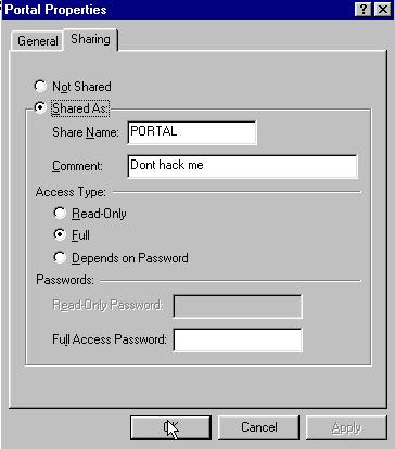 Configuring a file share