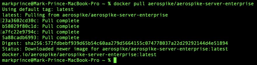 Screencap of Docker Pull EE