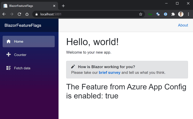 Blazor Azure App Configuration