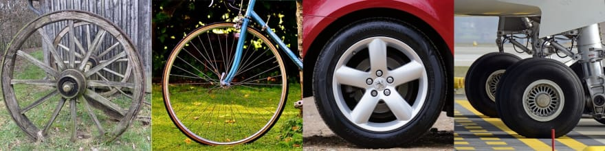 Different types of wheel