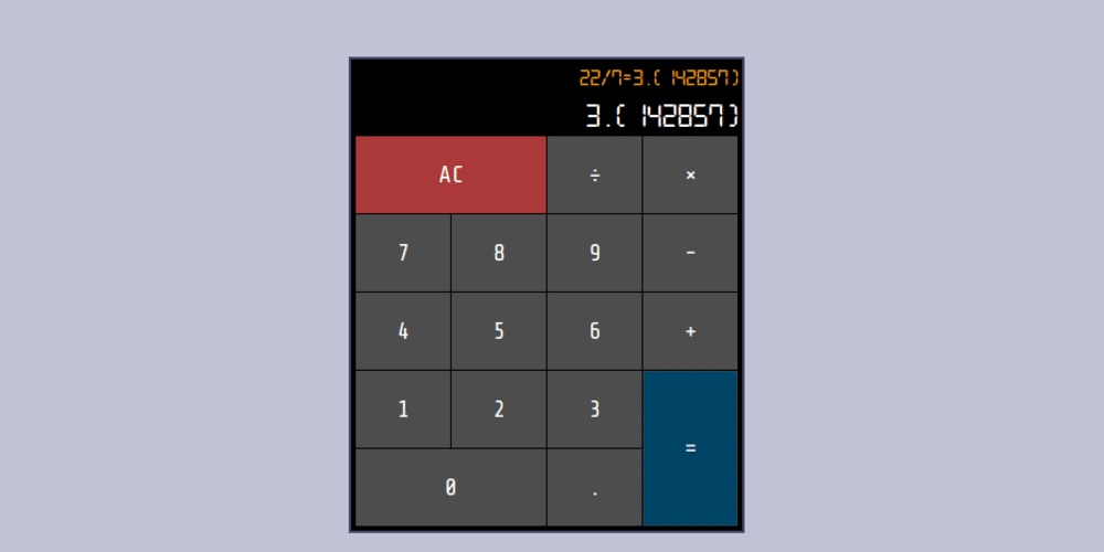 freeCodeCamp's JavaScript Calculator project built in Elm