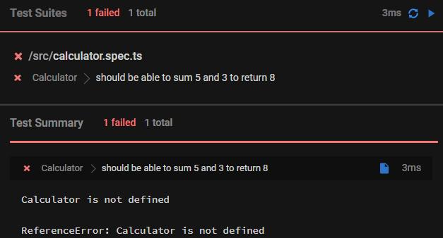 1 failing test