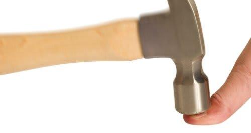 Hammer in finger