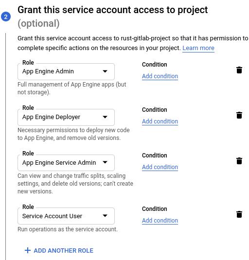 Service Account Roles