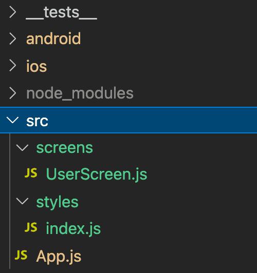 Folders organization