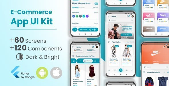 E-Commerce Flutter App UI<br> Kit