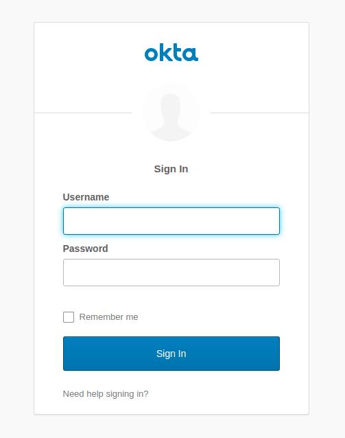 Okta Sign-In Widget screenshot