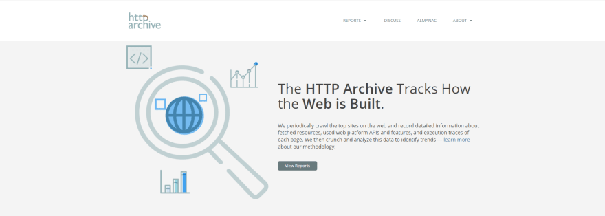 HTTP Archive home page