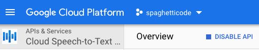 Google Cloud Speech-to-Text