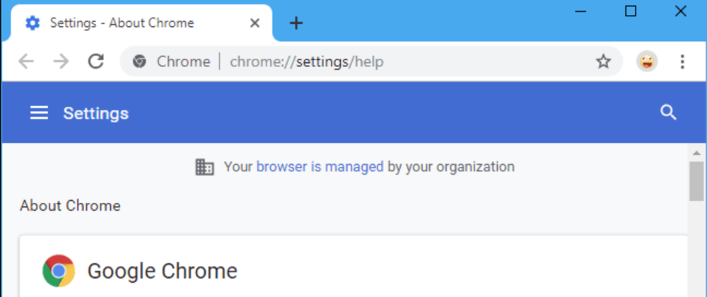 "Cover image for Solved: ""Your browser is managed by your organization"" - Linux"