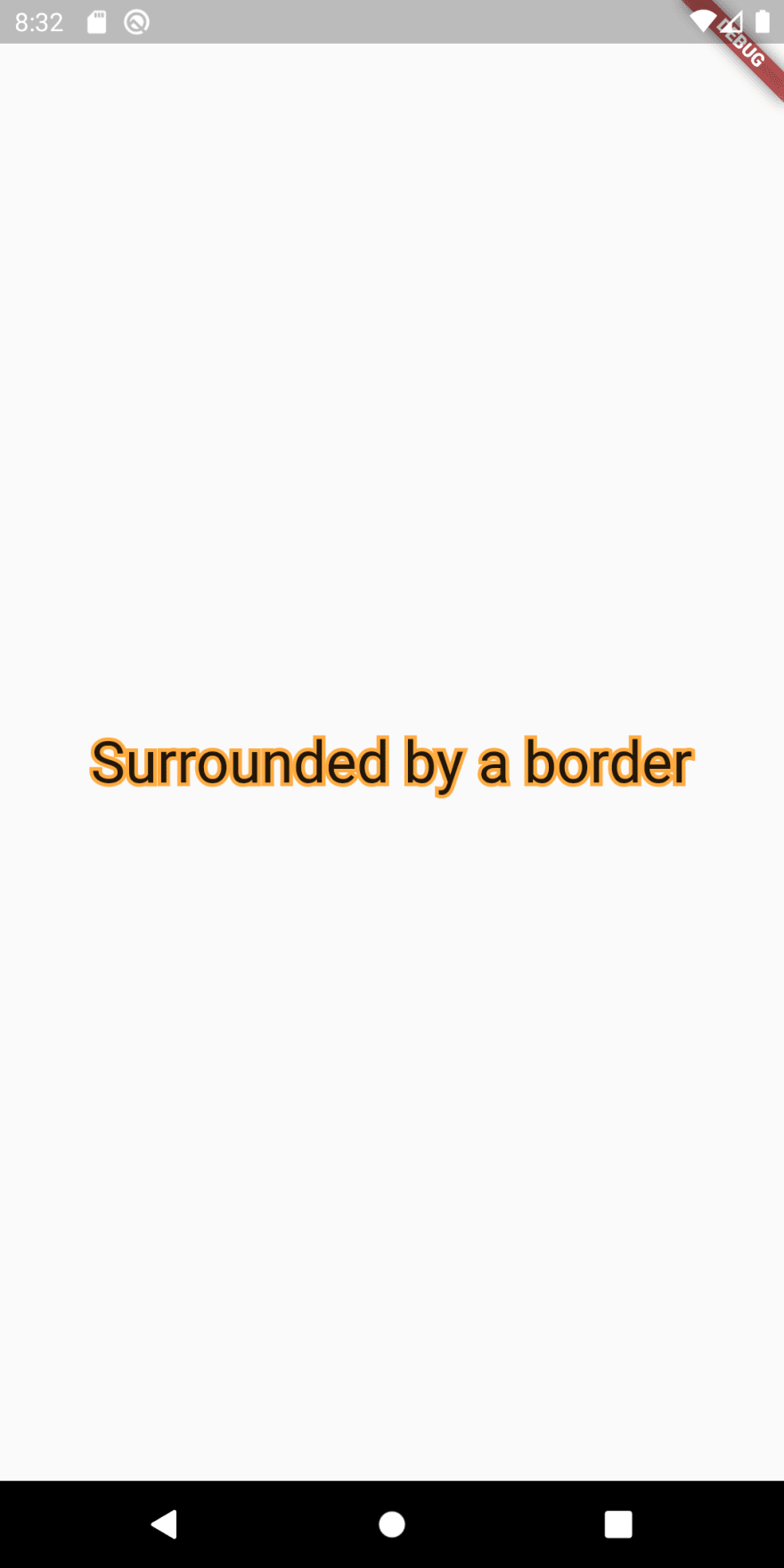 Simple text widget with stroke border in Flutter