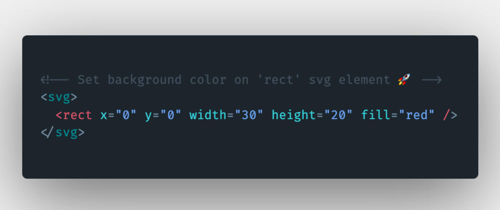 Cover image for How to set the background color on the rect svg element in HTML?