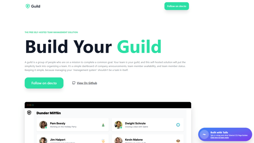 Guild - The free self-hosted team management solution