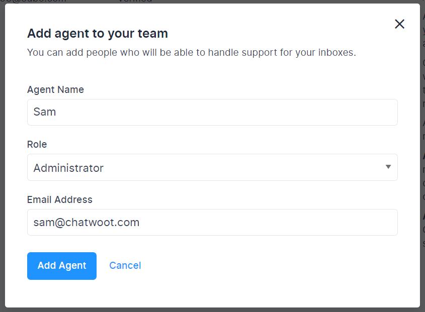 Adding new Agent