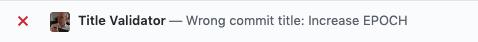 Verifies that commit title matches regexp (single commit)