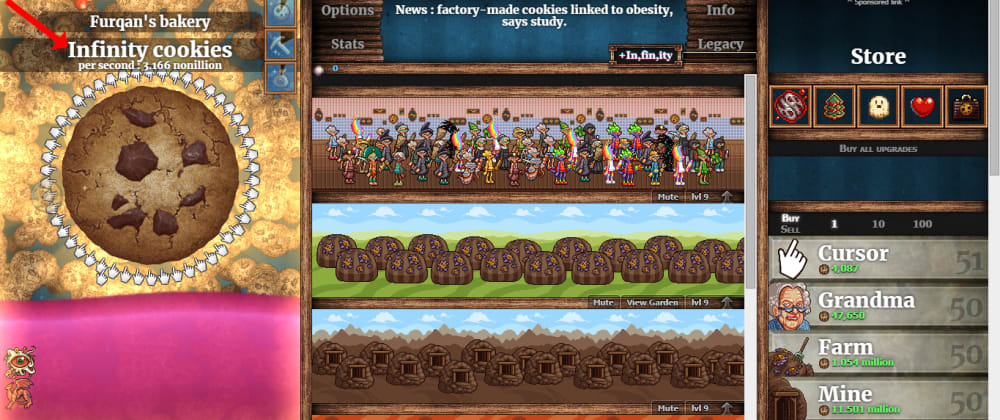 Cover image for How I Hacked Cookie Clicker Game with Inspect Element