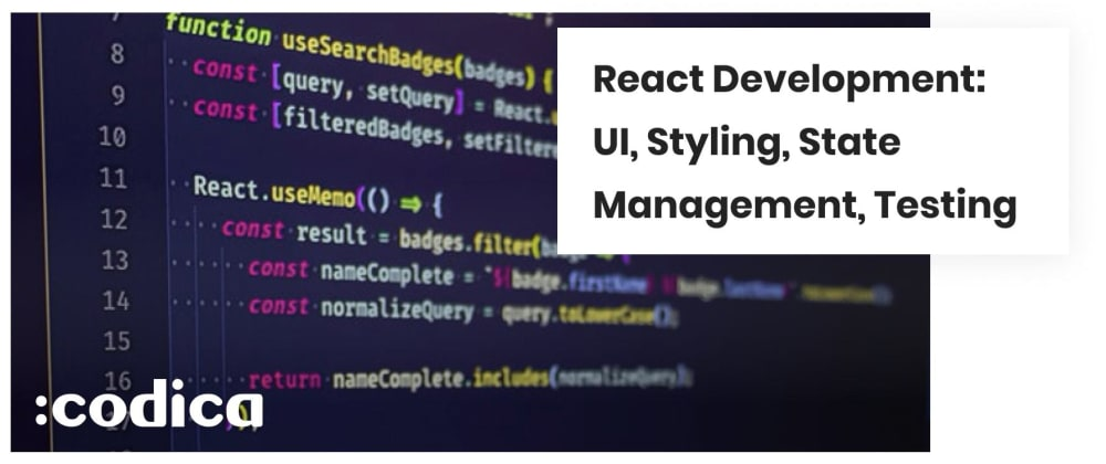 Cover image for React Application Development Tools: UI, Styling, State Management, Testing