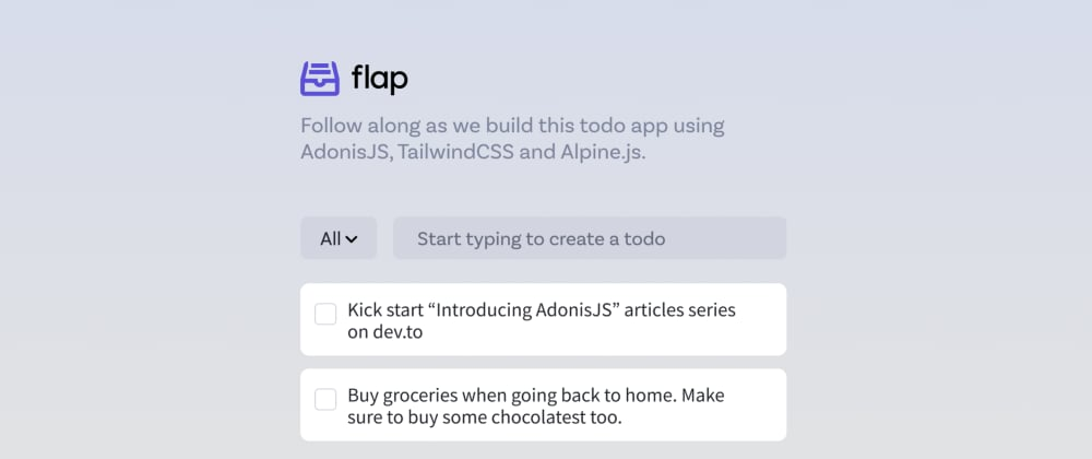Cover image for Introducing AdonisJS - Designing the web page