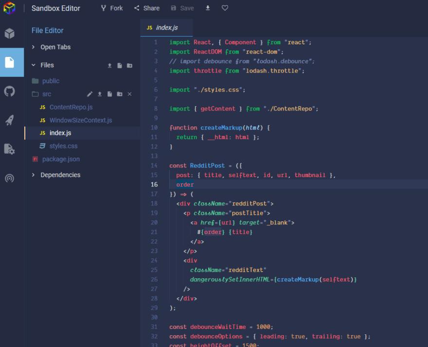 code blue on codesandbox