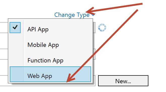 Web app selected