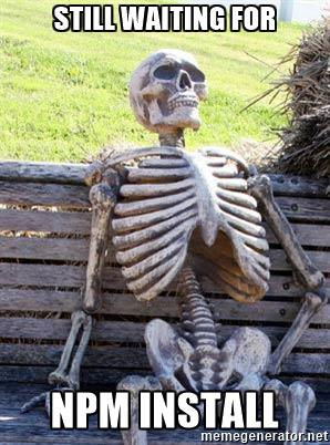 Waiting for npm install