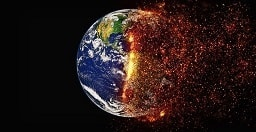 image of earth slowly crumbling