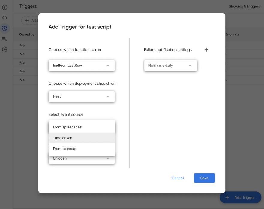 Apps Script Trigger