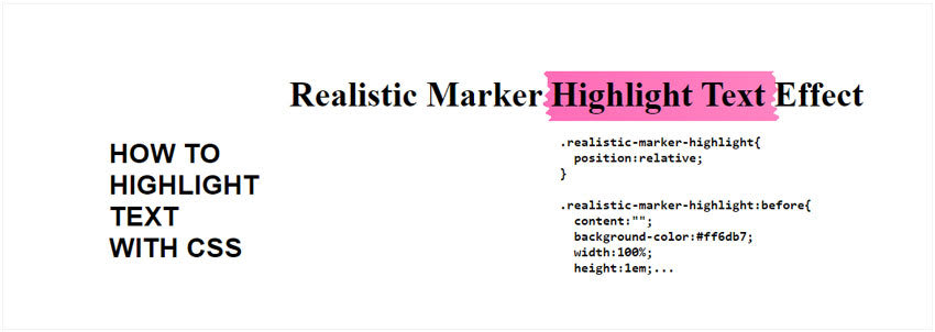 Realistic Marker CSS Highlight Text Effect