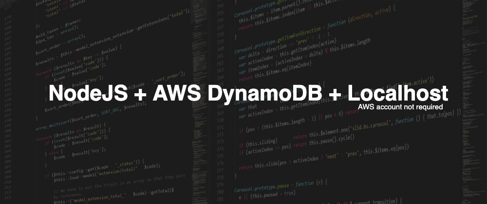 Cover image for Run a DynamoDB instance locally with Node.js